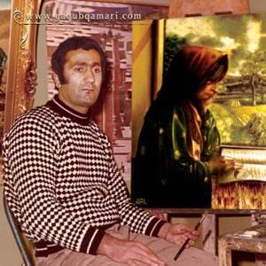 تابلو نقاشی زن روستایی، تابلو رنگ روغن